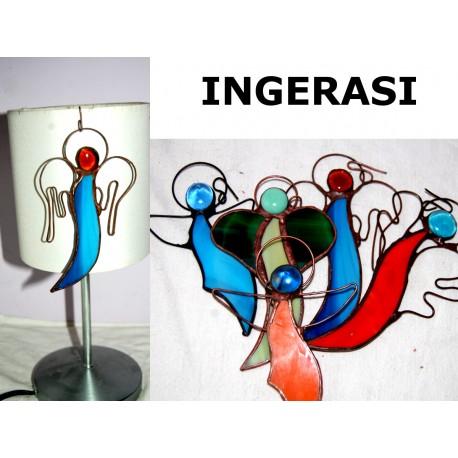 Decoratiune vitraliu Ingeras Craciun