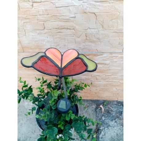 Fluture vitraliu cu lampa solara