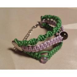 Bratara handmade liliachie