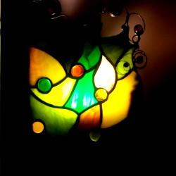 Veioza vitraliu verde