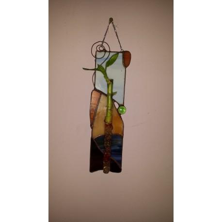 Vaza vitraliu bambus 7