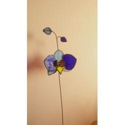 Decoratiune orhidee vitraliu