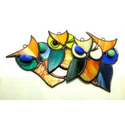 Bufnita vitraliu suncatcher