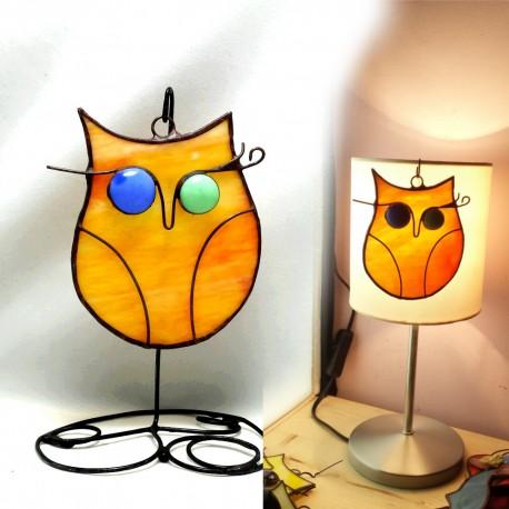 Bufnita vitraliu decoratiune Suncatcher