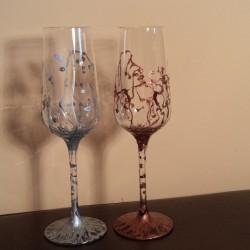 Set pahare sampanie sau vin