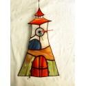 Turnul cu ceas vitraliu